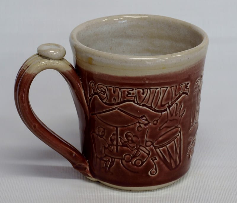 Asheville Scene mug - red