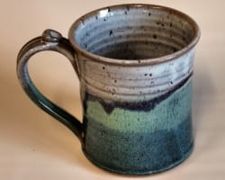 wide mouth mug -green