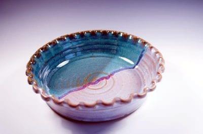 deep pie plate pottery
