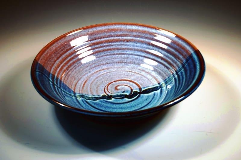 Sky Blue handmade ceramic soup bowl
