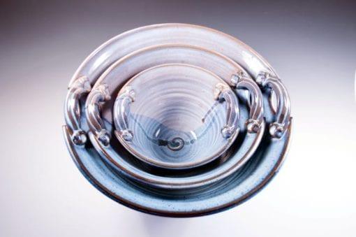 Nested Sky bowls pottery