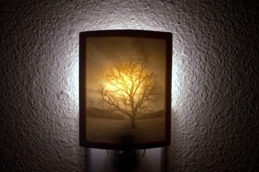 Handmade porcelain night light