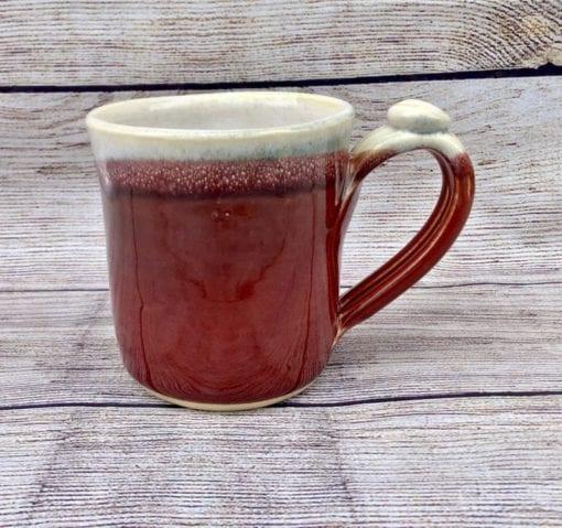 Handmade salvaterra pottery red mug ceramic