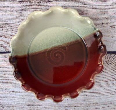 brie baker salvaterra pottery red