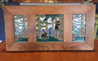 What's New at Salvaterra Pottery? Home Decor, including Pendant Lights, Decorative Tile with Custom Wood Frames