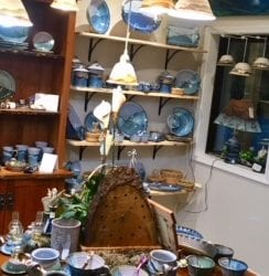 Pottery and Wood Combined by Salvaterra Pottery and Refined Rustic for New Home Decor Pieces