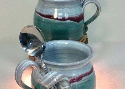 pottery soup mug