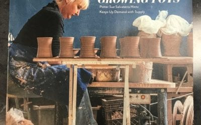 Salvaterra Pottery from Weaverville, On the Cover of Asheville Made Magazine