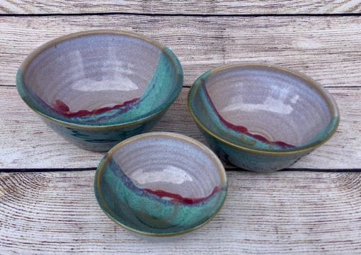 nesting dip bowls by salvaterra pottery