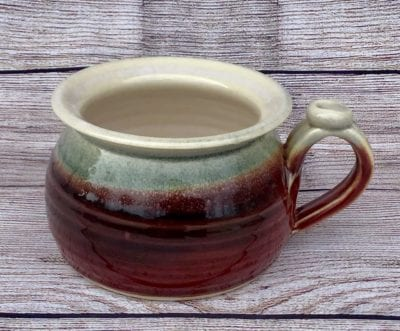 soup mug potter red