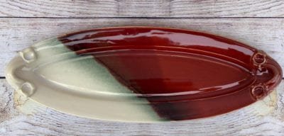 Red bread tray salvaterra pottery