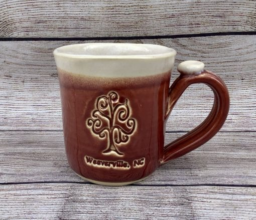 Red Custom Personalized handmade pottery mug