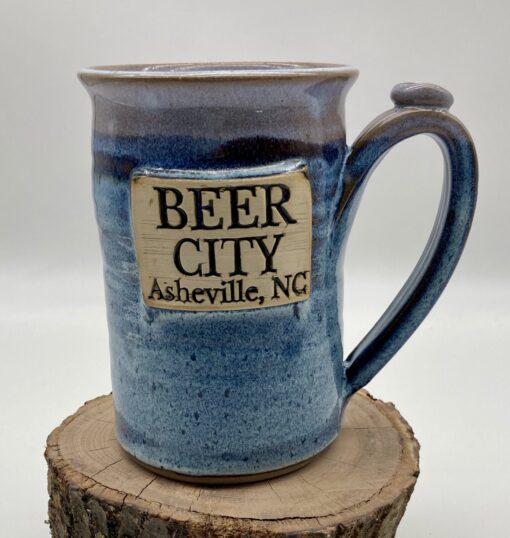 Asheville Beer Mug Blue