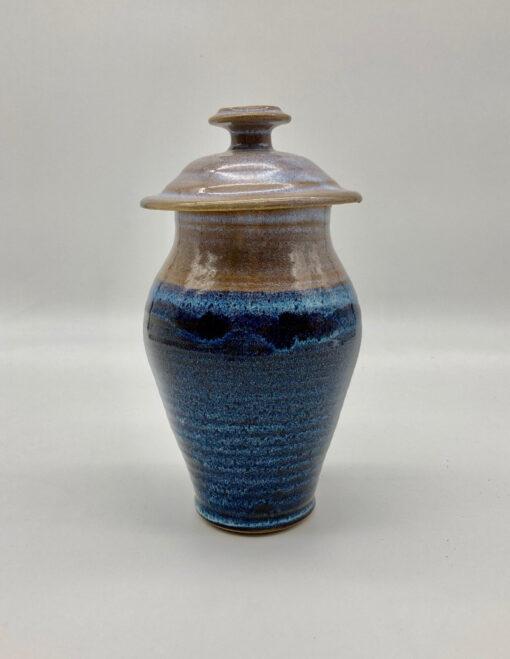 pet remain urn blue